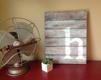 Rustic, Reclaimed Wood Sign - Barnwood Letter Wall Art
