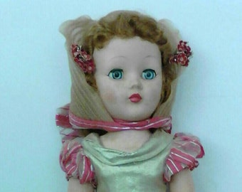 "REDUCED!  American Character doll Sweet Sue 24"" 1952 Southern Belle with parasol"
