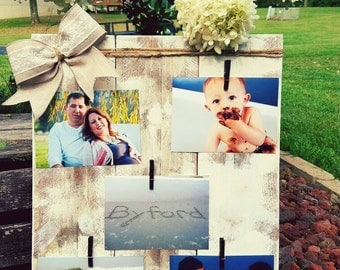 Rustic collage picture frame