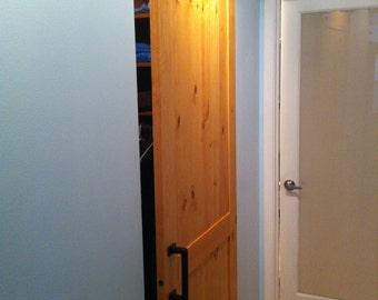 sliding barn door kit diy build pine sliding door modern industrial rustic - Sliding Closet Doors