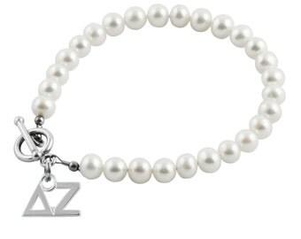 Delta Zeta Pearl Bracelet, DZ-6132