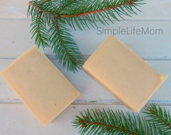 FRANKINCENSE MYRRH TURMERIC Soap - 100% all natural, orange scented, Handmade, cold processed, Herbal soap, with essential oils