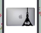 Mac Decal Zipper Apple Macbook and other laptop