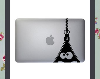 Mac Decal, Zipper, Apple Macbook and other laptop