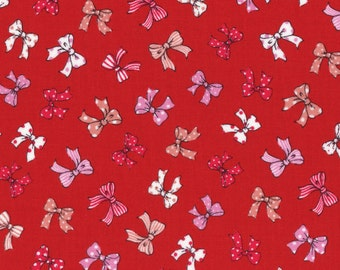 Bows - Red / Multi by Lecien (31373-30) Cotton Fabric Yardage