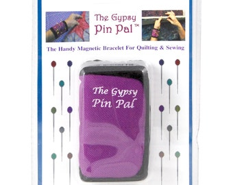 Pin Pal Magnetic Bracelet by The Gypsy Pin Pal - Notions Pin Cushion Sewing Quilting Aid Seamstress Supply