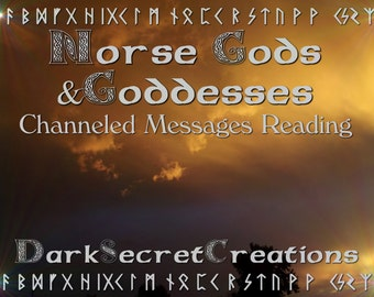 Norse Gods & Goddesses Psychic Reading, Personalized Guidance, Channeled Messages Reading, Via PDF