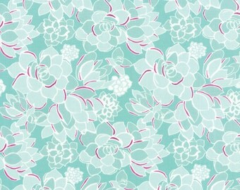 Canyon Succulent Agave Fabric by Kate Spain for Moda Fabrics, Cactus Fabric - One yard - IN STOCK