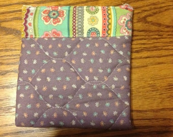 Quilted Snappy pouch