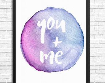 You & Me Watercolour Digital Print