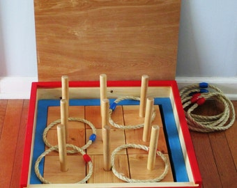 Wood Ring Toss Game