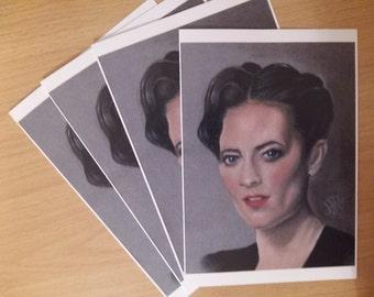 Greetings card 'IRENE ADLER' Lara Pulver