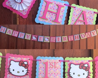 Hello Kitty Banner, Hello Kitty Birthday Banner, Hello Kitty party decor, Hello Kitty birthday decor, Hello Kitty birthday decorations