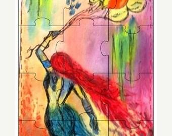 Be My Valentine SALE 12-piece 5x7 ArtbyMaryReed Jigsaw Puzzles