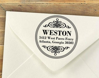 Custom Stamp, Address Stamp, Self-Inking Rubber Stamps, Personalized Stamp, Return Address Stamp, Great Wedding Gift / Shower Gift