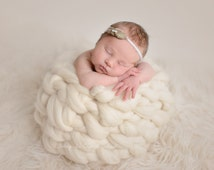 SUPER CUTE HONEYPOT real wool nest - variety of colors, wool basket, newborn photo prop, photography prop, soft wool newborn nest,