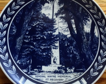 1973 Ohio Plate General Wayne Memorial Ft Recovery Scene Collectors