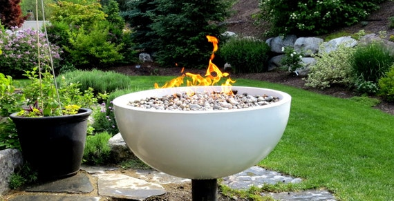 Large Outdoor Concrete Fire Bowl