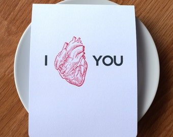 I love you card // valentine's day card // i heart you card // doctor card // medical school card