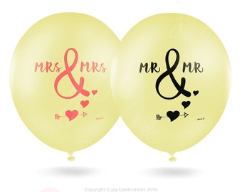 Premium Quality Gay Lesbian Wedding Balloons LOVE=LOVE by Joy Celebrations Mrs and Mrs / Mr and Mr - Anniversary Engagement Party (19481117)