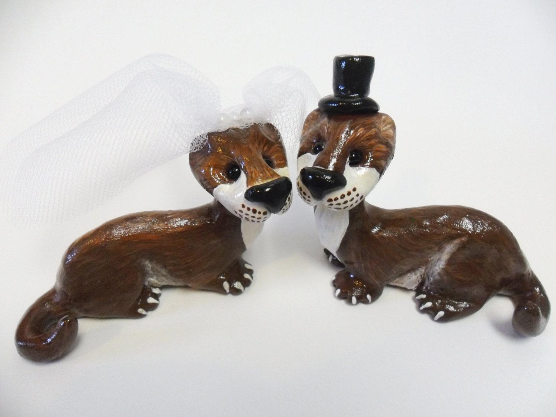 Sea Otter Wedding Cake Topper Wedding Cake Topper