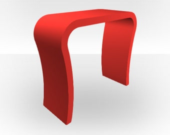 Red Matt Console Table - Curved