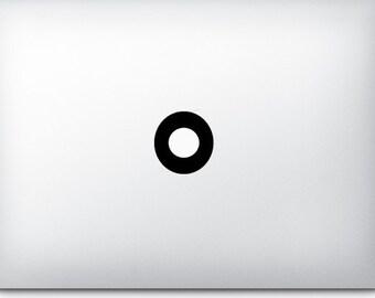 Circle - Mac Apple Logo Cover Laptop Macbook Ipad Iphone Vinyl Decal Sticker