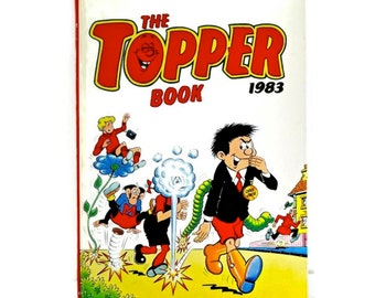 Topper Annual 1983, Comic Book Vintage Childrens Books, Xmas Gift for Kids, Childrens Annual Hardback Book