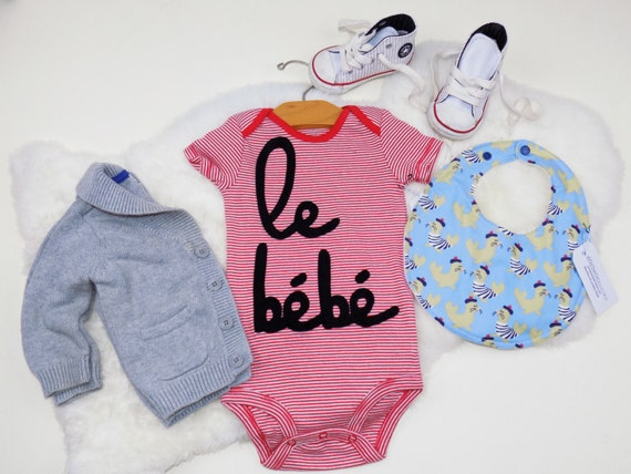Hipster Baby Gift Ideas : Bebe onesie trendy hipster french coming home