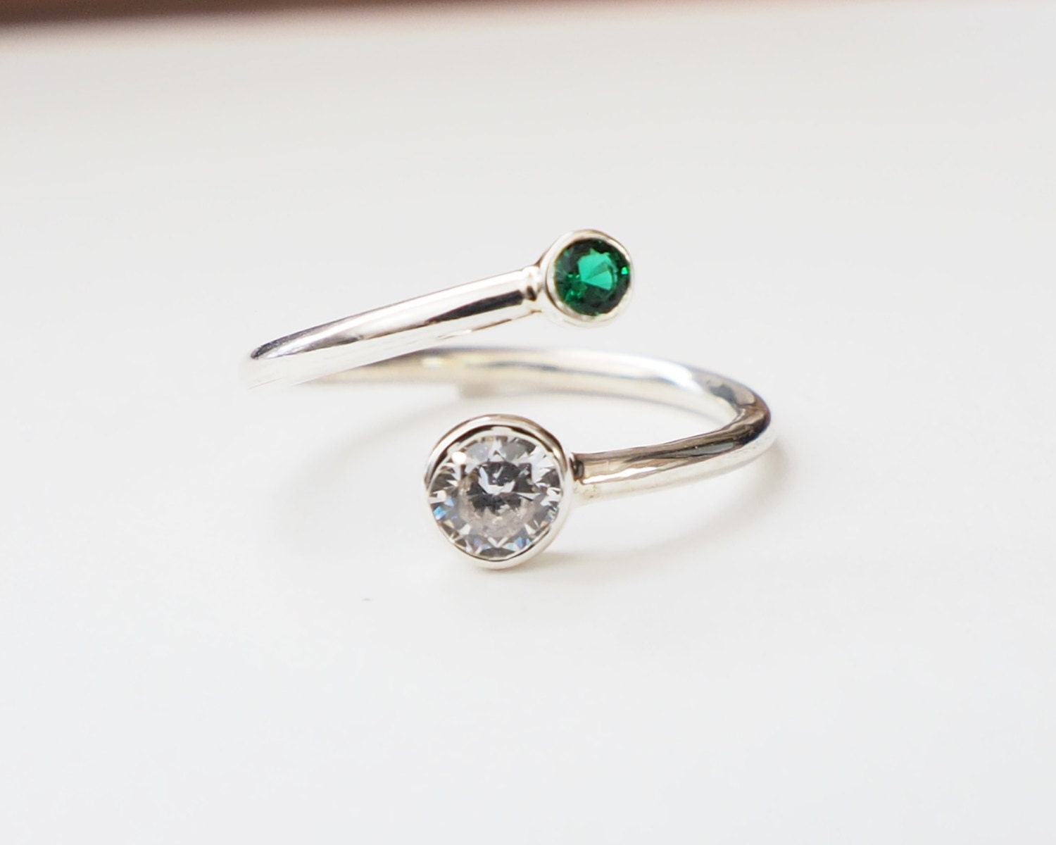 30% OFF Dual Birthstone Ring Couples Birthstone Ring