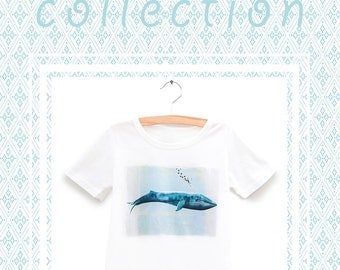 Kids Collection / Whale t-shirt / Size: 2.4 & 6 years