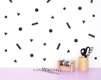 Geometric Wall decal pattern / Shapes Vinyl Sticker / Minimal Home decor / Scandinavian design