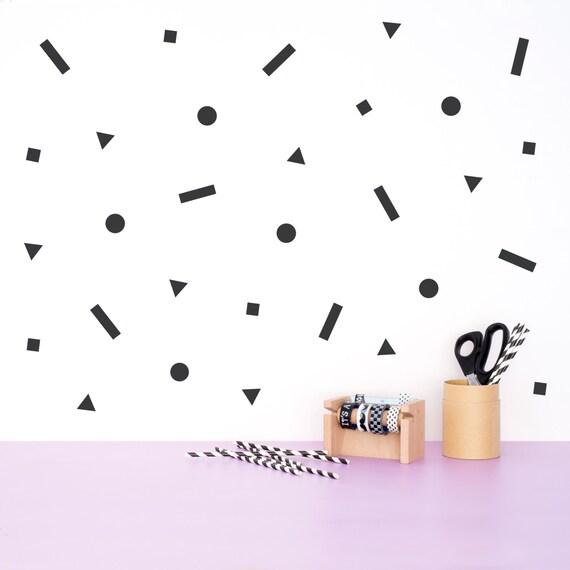 Geometric Wall decal pattern Shapes Vinyl Sticker Minimal
