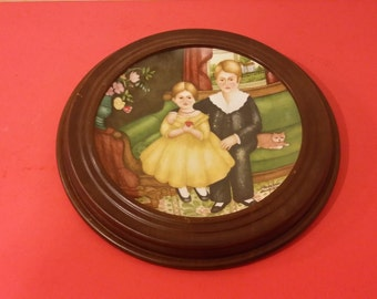Edwin M Knowles Collector Plate, Ellen & John in Parlor, American Innocents, 1987