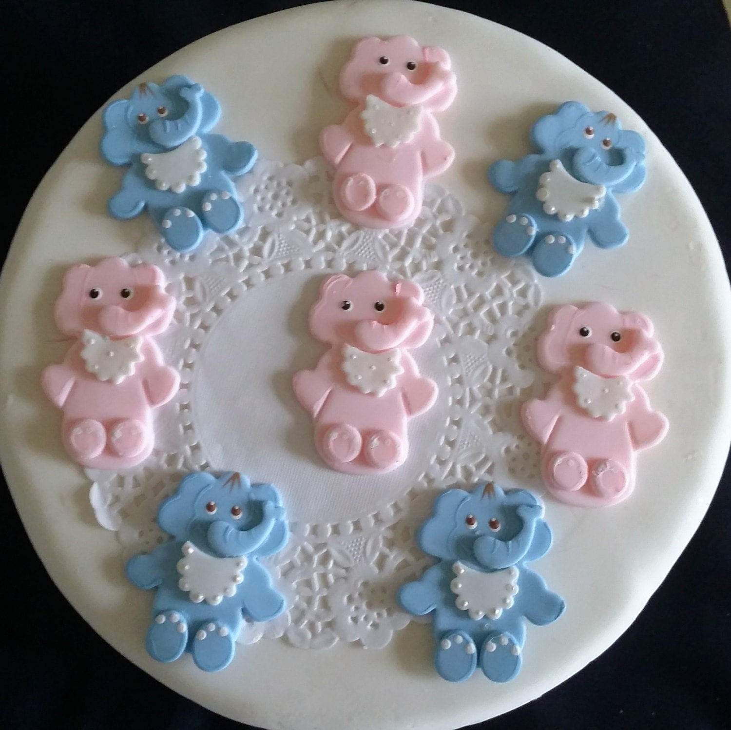 how to make baby shower elephant cake topper