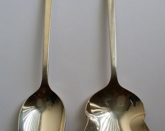Vintage 1968 TRIUMP Silver Plated International Deep Silver Two Spoons