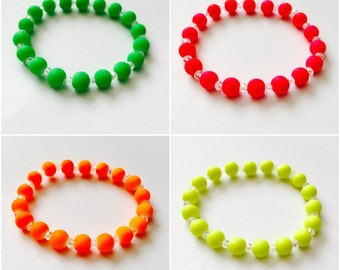 Neon bracelets kids,teens,adults neon bracelet,summer/holiday bracelets/jewellery,neon yellow,pink,orange,green stacking bracelets