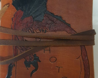 Dragon Decorated Leather Photo Album