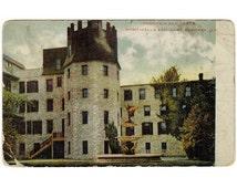 Godfrey Illinois antique postcard | Monticello Female Seminary | 1900s vintage IL travel postcard | Lewis and Clark Community College