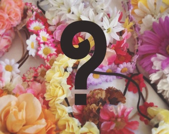 SURPRISE Mystery Flower Crown! Bargain flower crown headband, Coachella flower crown, hippie flower halo, perfect for music festivals!