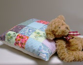 Childrens Patchwork Cushion Cover in Vintage Fabrics  FREE SHIPPING AUSTRALIA