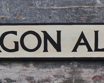 NEW!!** Vintage style wooden 'Diagon Alley' sign, Hand crafted