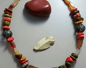 Festive Unakite Sticks Necklace