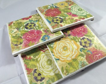 4 pack - tile coasters