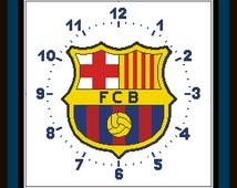 PDF Cross Stitch Chart, Clock Barcelona, Cross Stitch Pattern