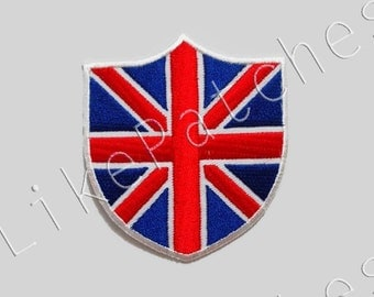 Flag Of England - Patch New Sew / Iron On Patch Embroidered Applique Size 6.8cm.x7.7cm.