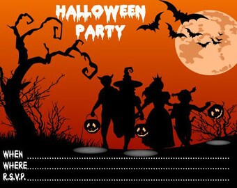10 x Halloween Party Invitations