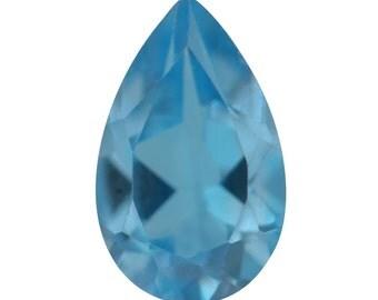 Swiss Blue Topaz Loose Gemstone Pear Cut 1A Quality 8x5mm TGW 0.80 cts.