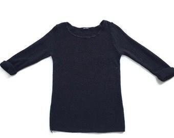 90's Minimal Textured Knit Sweater