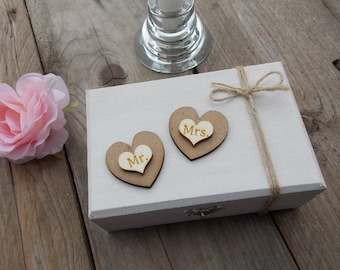 Ring bearer box 'Two Hearts'-ring pillow, ring bearer, rings, wedding accessoires, wedding decoration